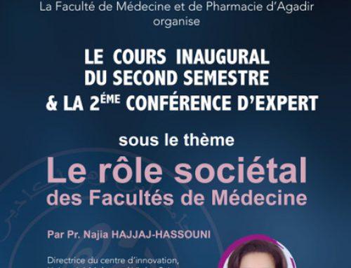 CONFERENCE D'EXPERT sous le thème  Le rôle sociétal des Facultés de Médecine
