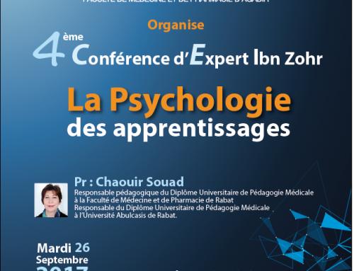 4 ème conférence d'Expert Ibn Zohr «La Psychologie des apprentissages»