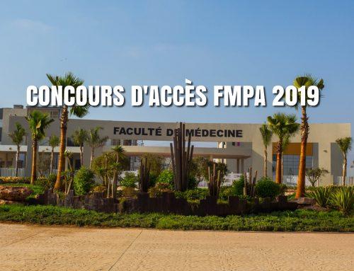 Concours d'accès en 1ère année FMPA 2019/2020 : Liste des candidats + Informations générales sur le concours et la procédure d'inscription