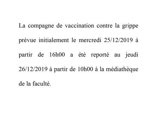 Avis – vaccination [Modifié]